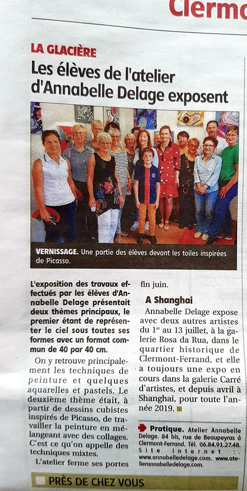 Vernissage 2019 article presse